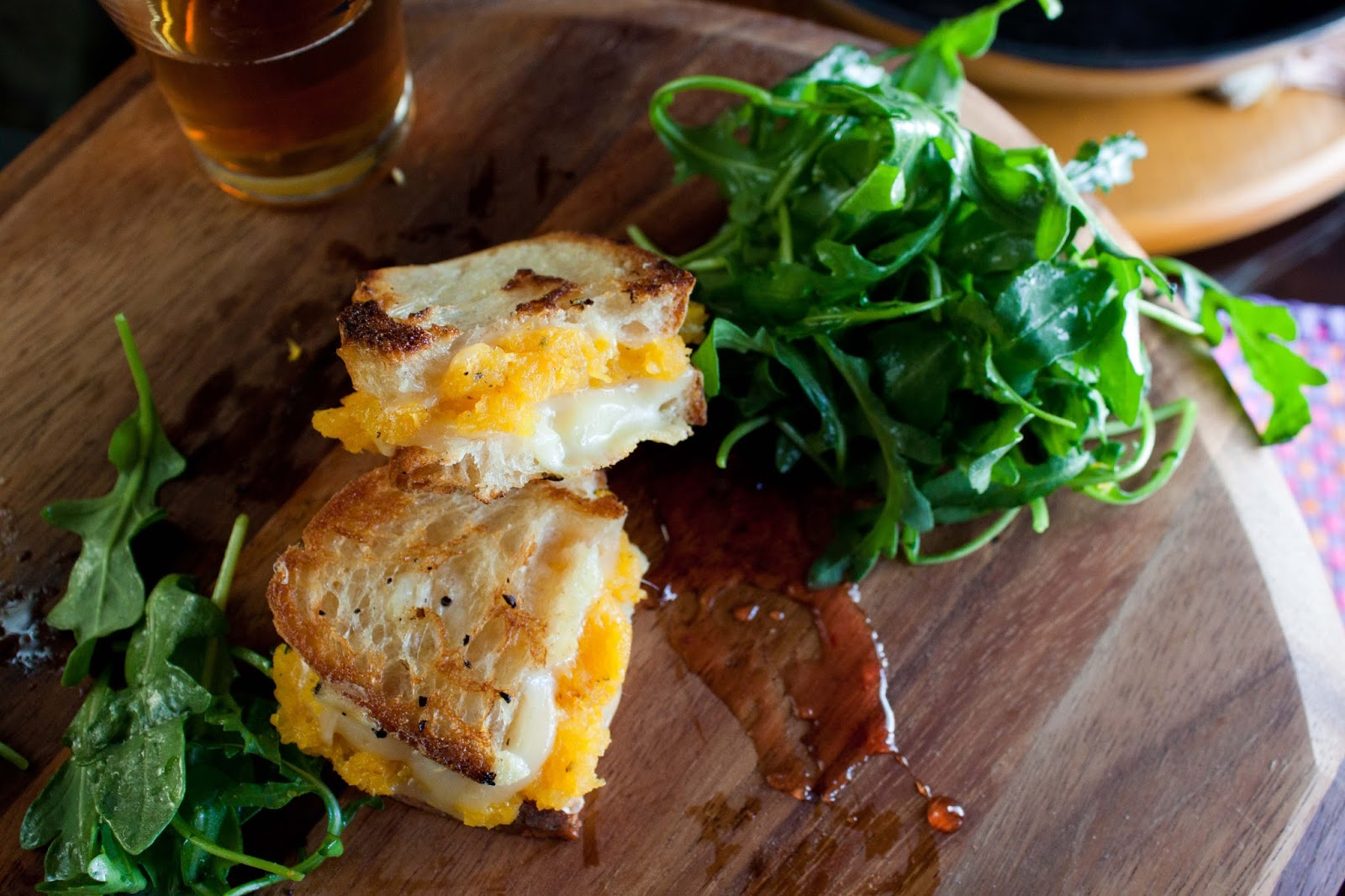Fat and Happy Blog: Garlic Roasted Squash Grilled Cheese
