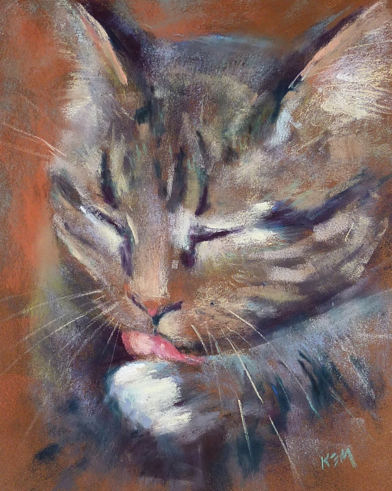 painting my world how to paint whiskers with pastels