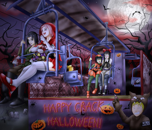 ItaSaku Halloween por Zhyrhe