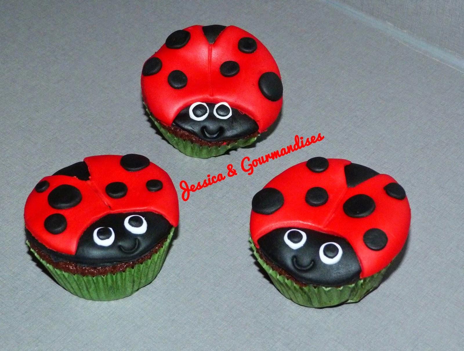 Extrêmement Jessica & Gourmandises: Cupcake coccinelle UY99
