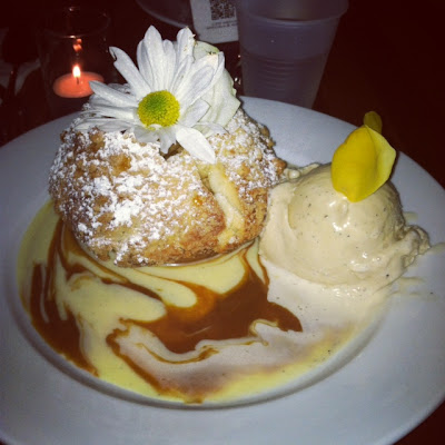 french applie pie with brown sugar ice cream from extraordinary desserts