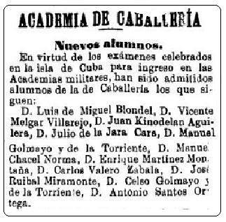 Recorte de El Correo Militar de 17 de octubre de 1898