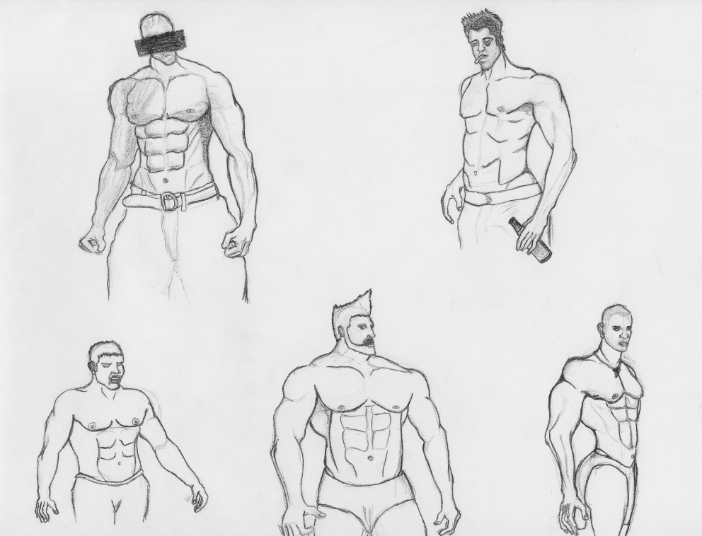 Jacksonler Artfeed Male Torso Anatomy Study 1