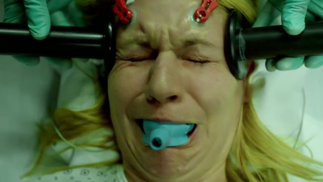 Carrie Mathison undergoes electric shock therapy