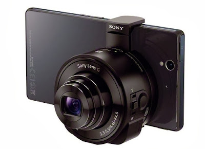 DSC-QX100 and DSC-QX10 camera lenses for smartphones by Sony