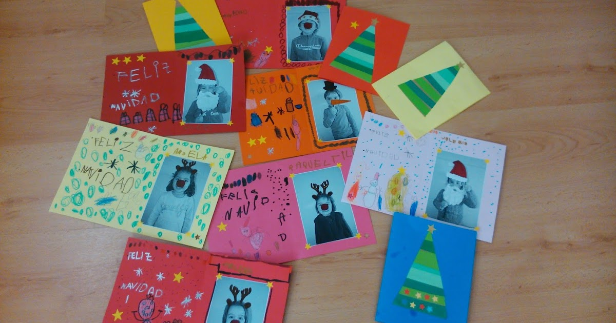 Colegio alcoraz postales navide as en 4 a os for Tarjetas de navidad hechas por ninos