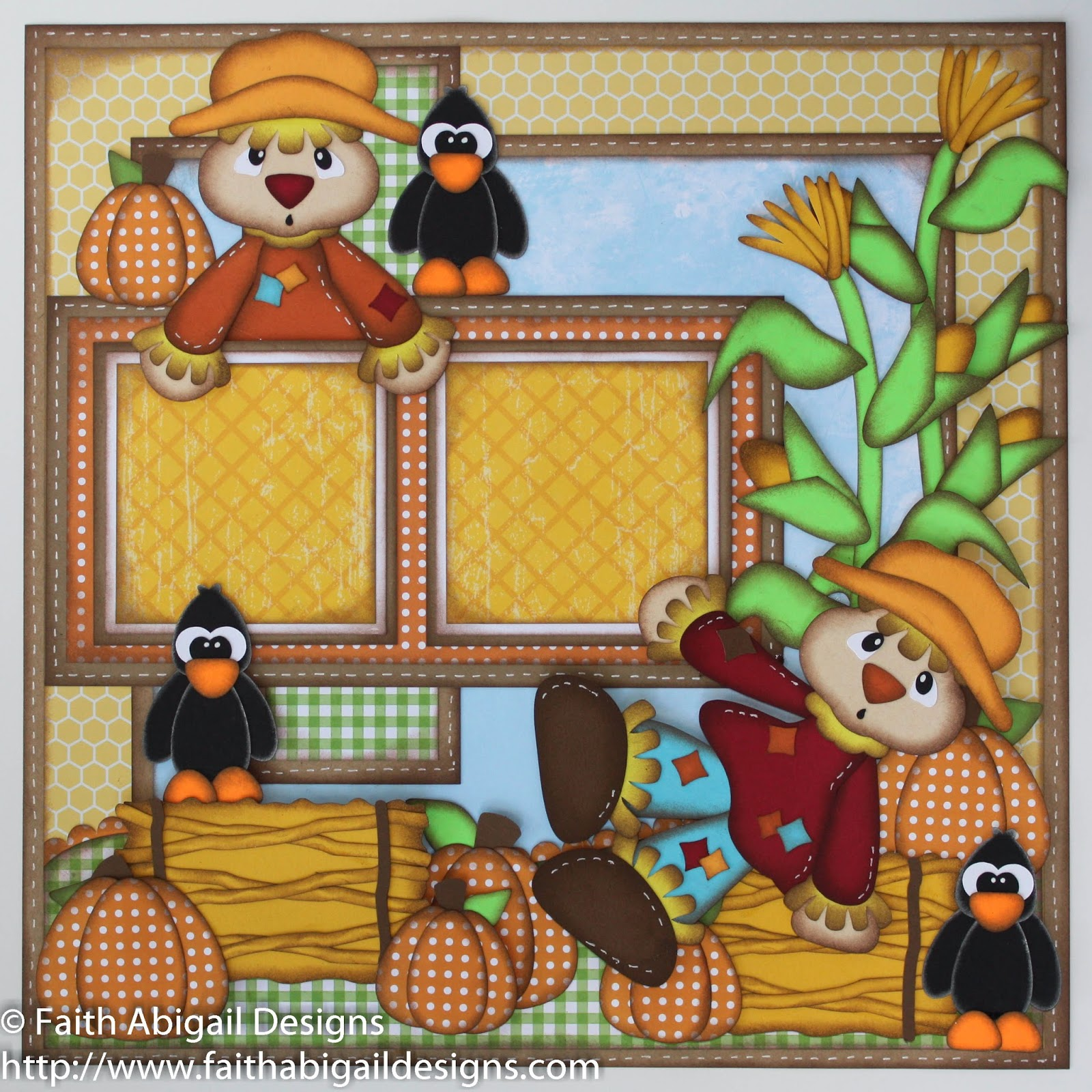 Scrapbook ideas about friends - Scarecrow Friends 12 X12 Single Page Scrapbook Layout