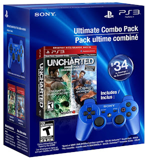Ultimate Combo Pack: Uncharted Greatest Hits Dual Pack & Dualshock3 Controller