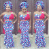 Lovely Off Shoulder Ankara Style Mix with Red Taffeta Material