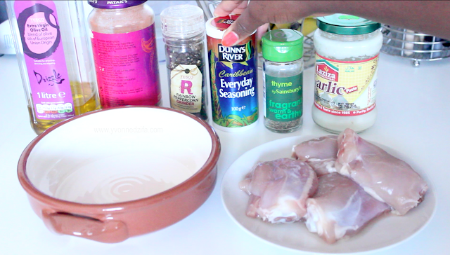 Healthy Baked Chicken ingredients