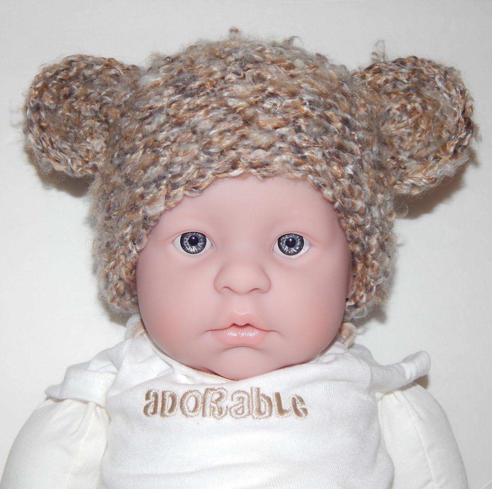 Jovial Knits Loom Knit Baby Bear Hat O So Cute Bear Hat