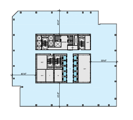 North tower mid floor plan