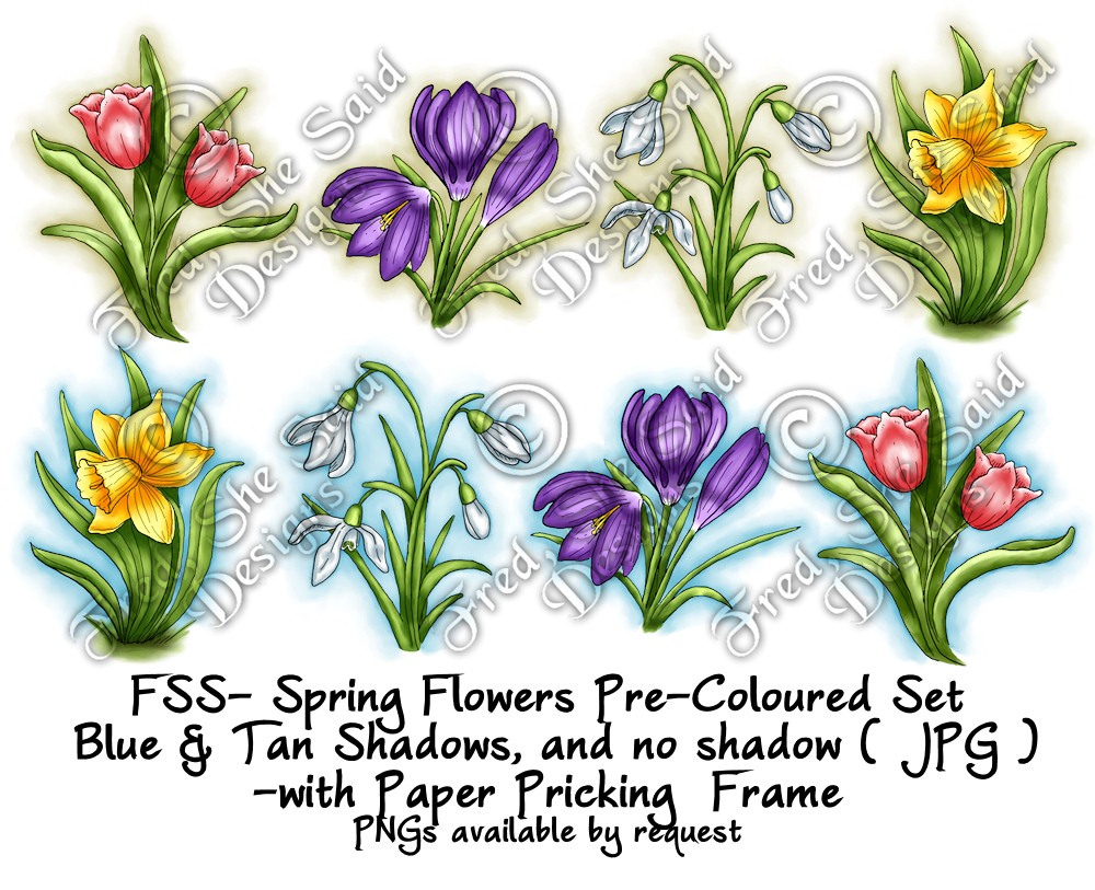 Fred She Said Designs The Store Spring Flowers Paper