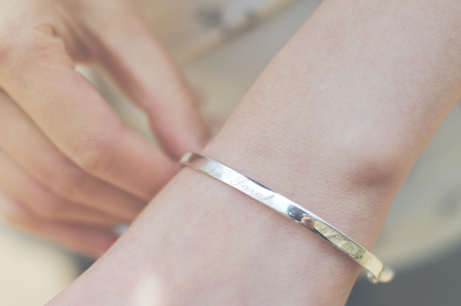 Monica Vinader Engraved Bracelet