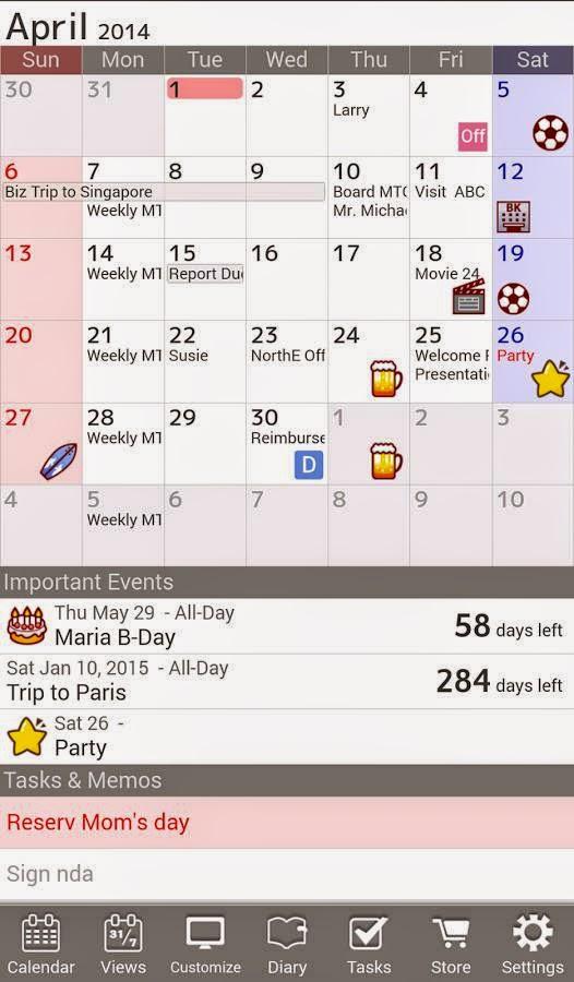 Jorte Calendar - Aplikasi Organiser keren