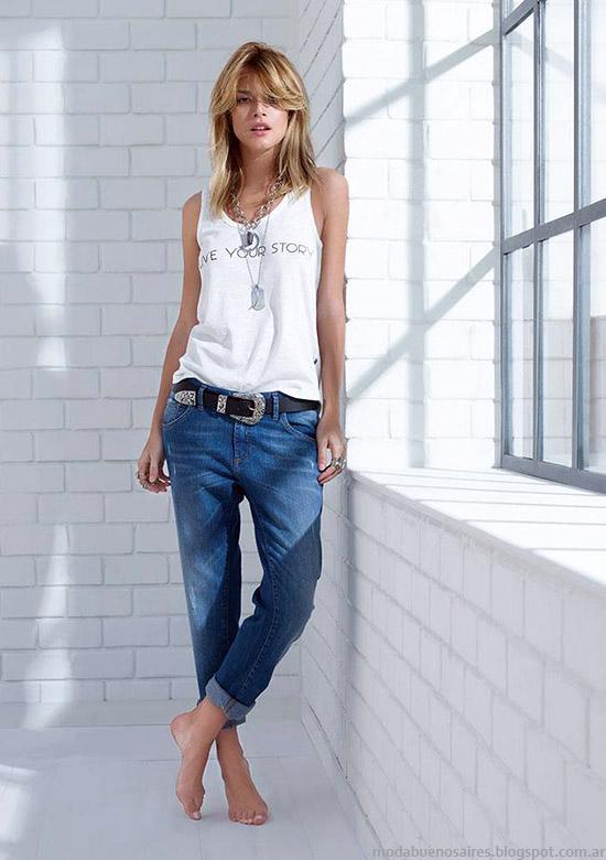 Jeans primavera verano 2015 Zhoue. Moda primavera verano 2015.