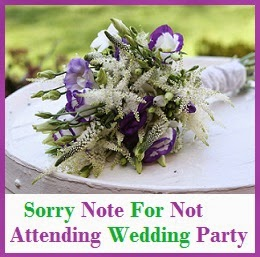 Wedding Gift Not Attending : not attending wedding party sorry message for not attending wedding