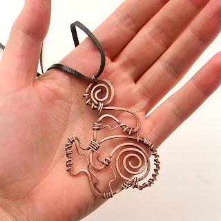 купить кулон из меди украина спираль украшение из проволоки Anabel wire wrap pendant