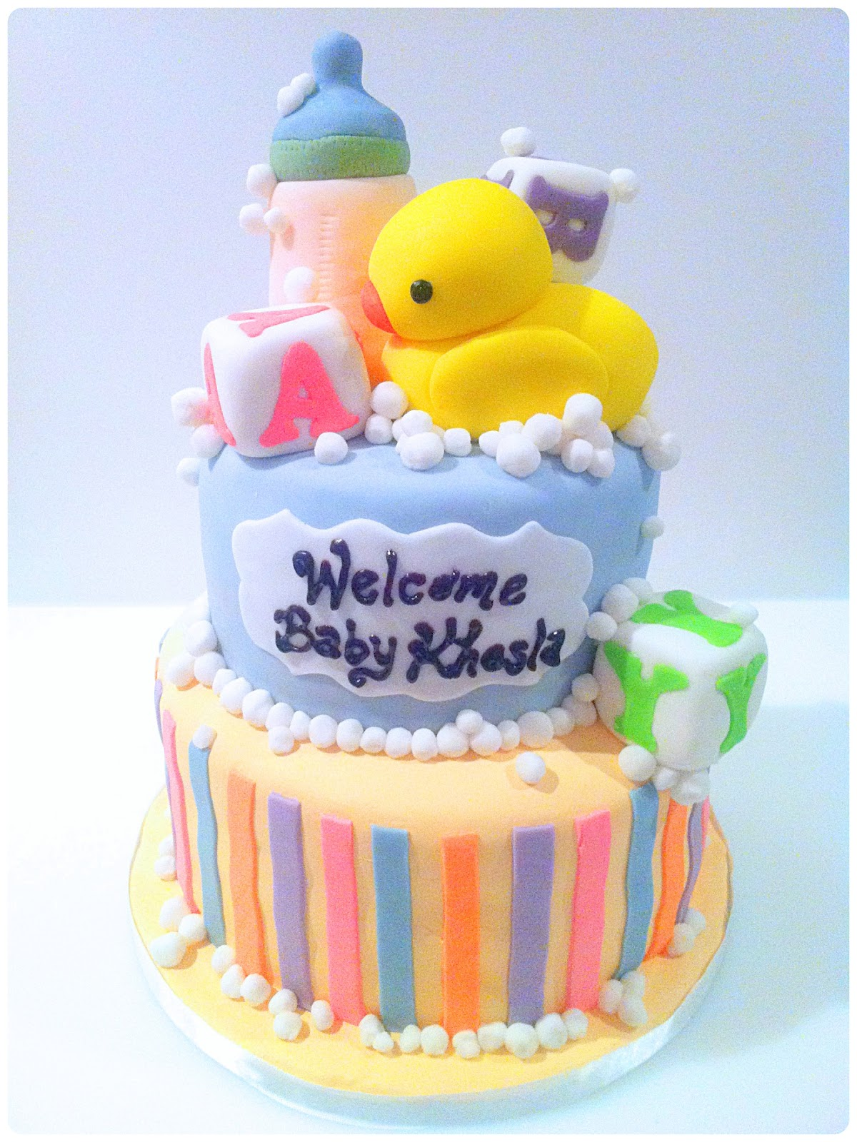 Welcome baby home cake ch rie kelly for Welcome home decorations for baby