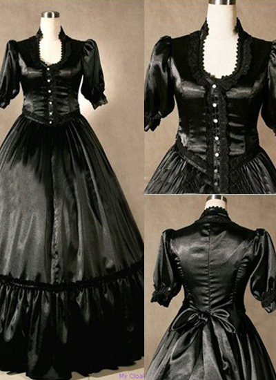 Classic Black Lace Gothic Victorian Dress