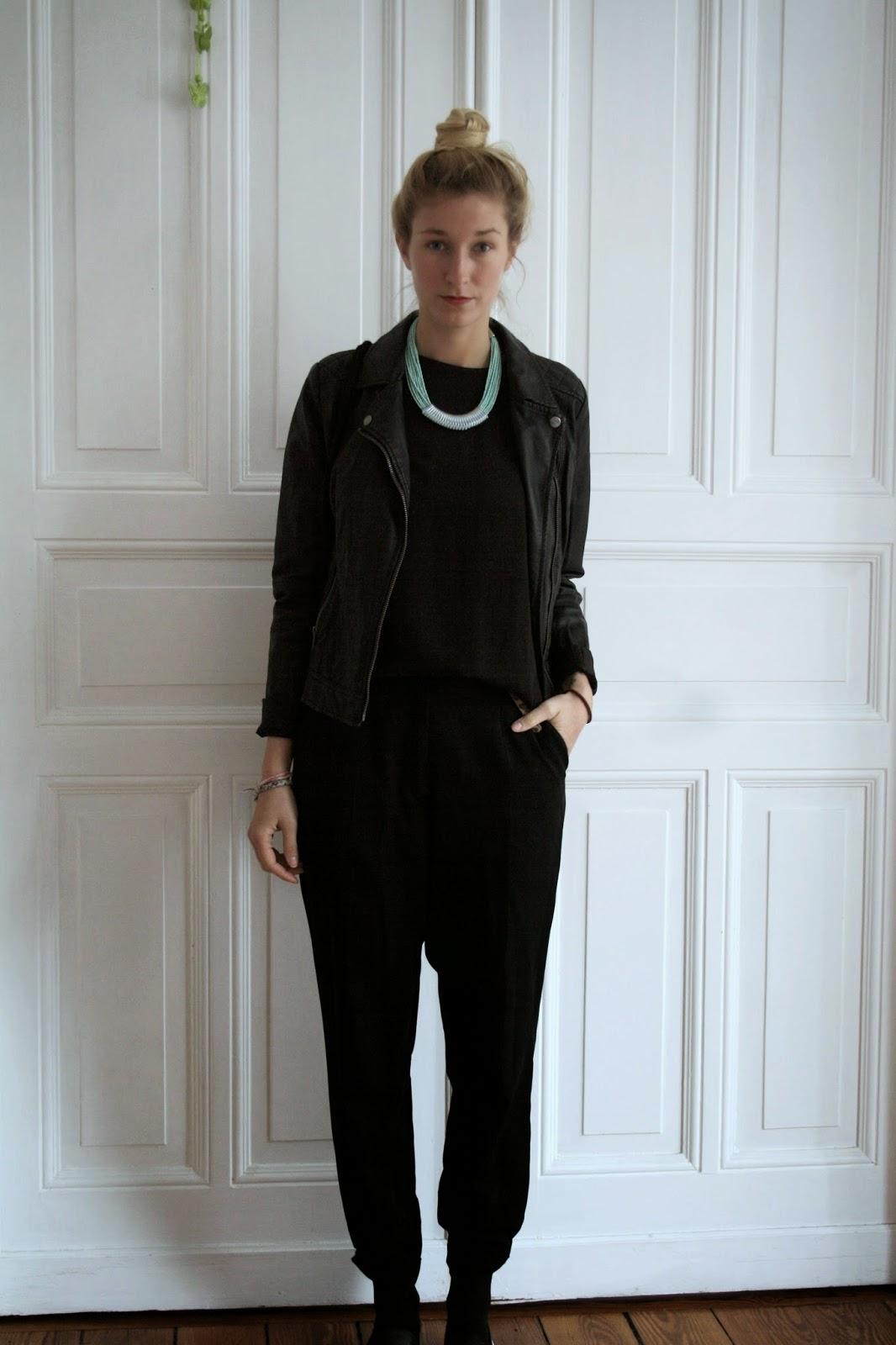 Fashionblogger Outfit Lederjacke