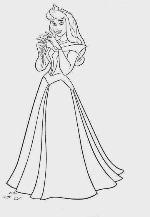 desenhos e riscos da bela adormecida princesa disney para