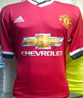 gambar jersey manchester united home terbaru 2015/2016, grade ori, made in thailand, harga murah