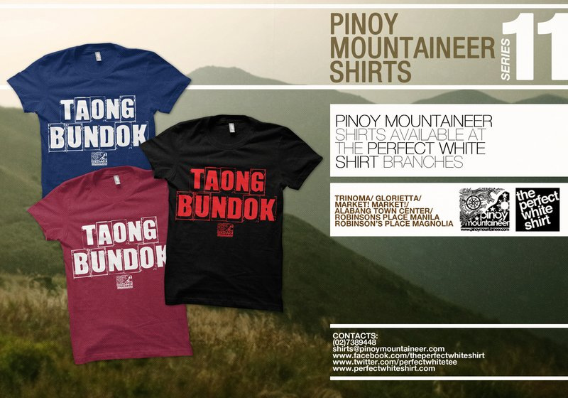 Collect the PinoyMountaineer shirts and share the passion