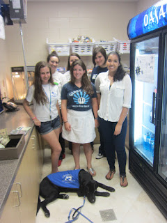 Here is our concession team: Emily, Jessica, Isabella, Christina, Carly, Alex with Coach lying down up front.