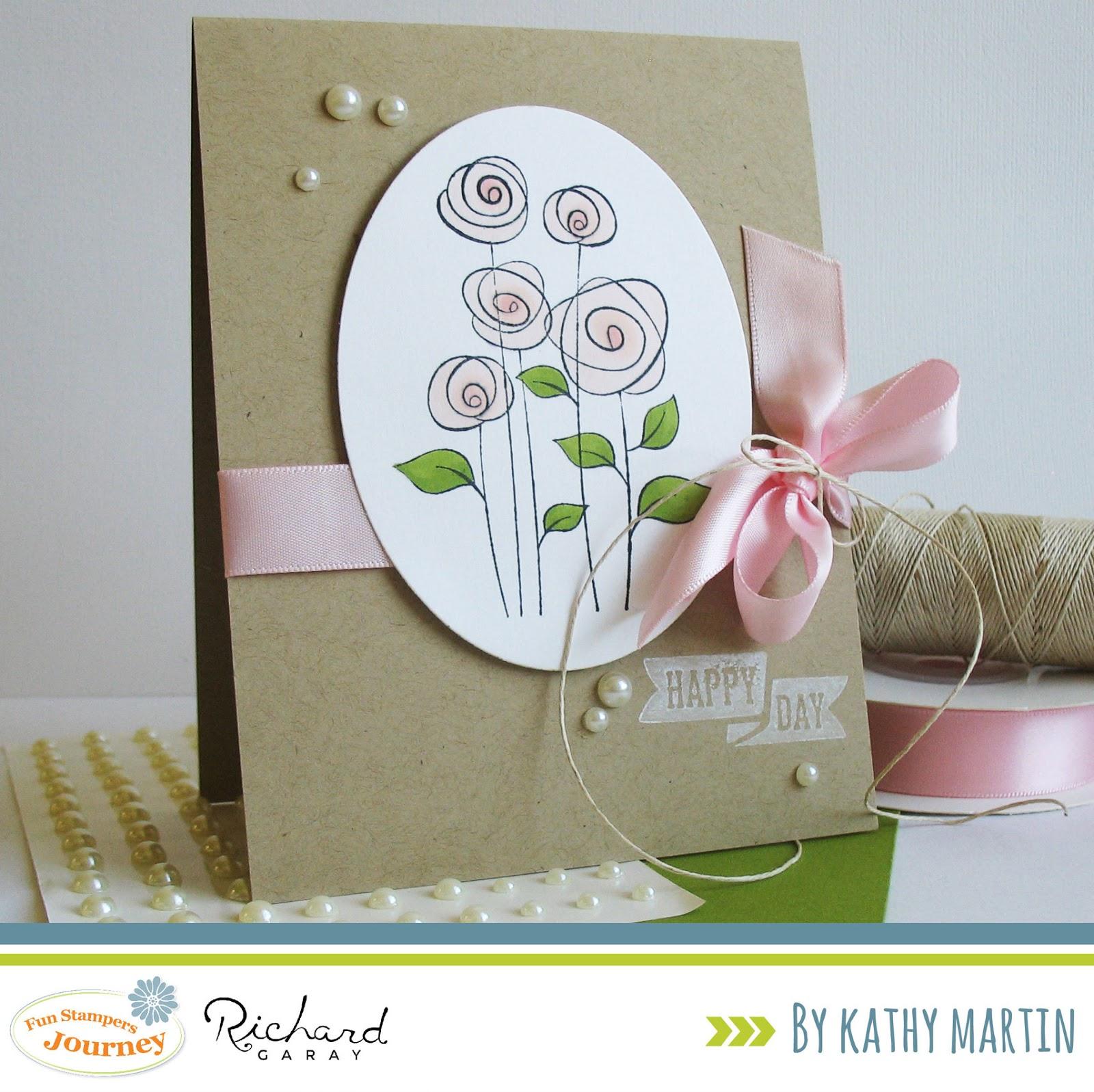 Card Blanc By Kathy Martin Happy Day