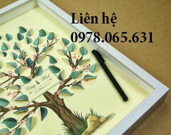 tranh chữ ký đám cưới