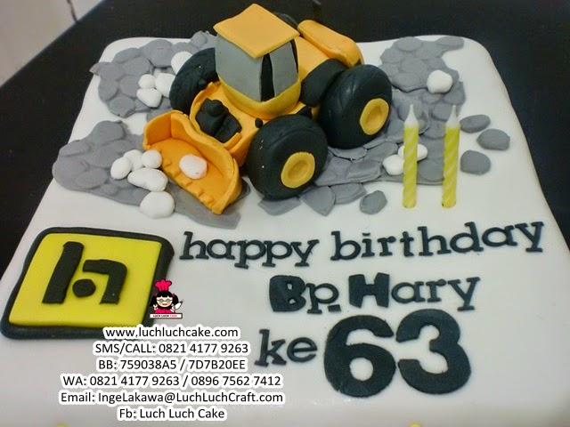 Kue Tart Tema Alat Berat Loader Daerah Surabaya - Sidoarjo