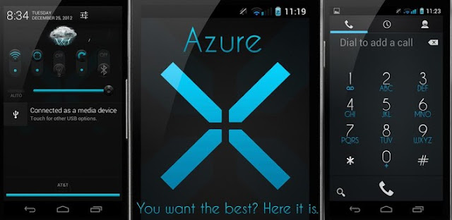 Azure Blue Theme CM10.1/AOKP v1.3.2 APK