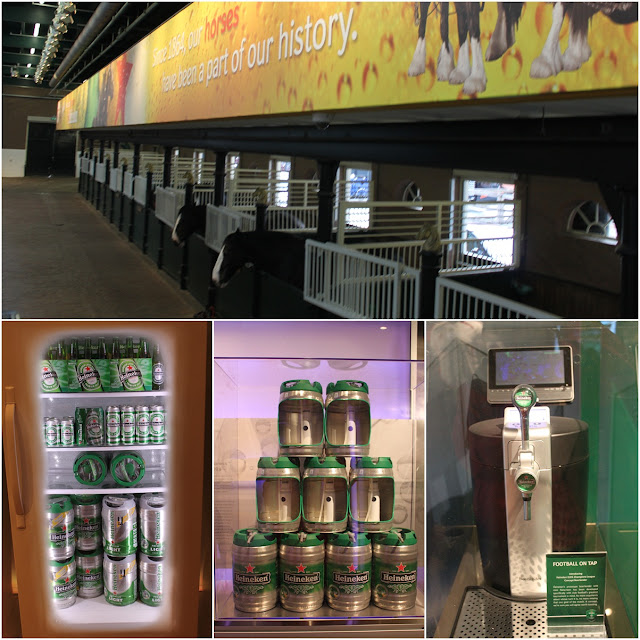 A surprise visit of a look alike horse barn but you can find real horses and more display of Heineken Kegs and Cool Tap used for various advertising campaigns at Heineken Experience Museum in Amsterdam, Netherlands