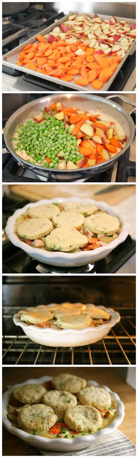 Chicken & Chive Biscuits Pot Pie