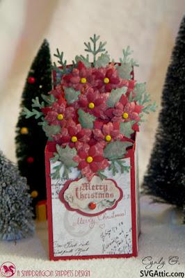 Poinsettia box card