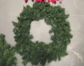 wreath storage coat rack