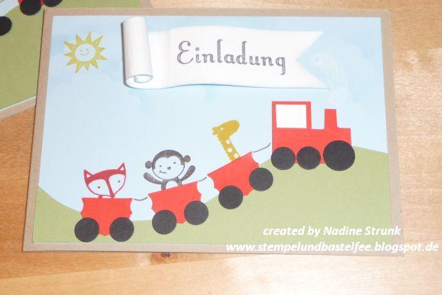 stempel- und bastel-fee: einladung kindergeburtstag, Einladung