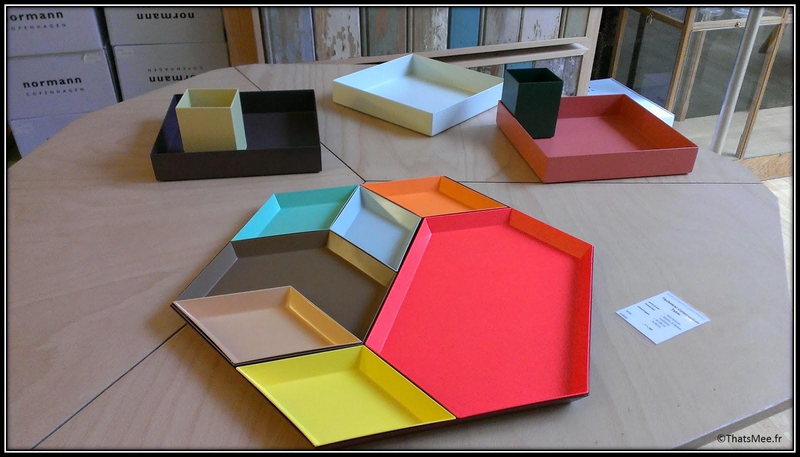 Frozen fountain deco concept-store design Amsterdam plateaux colorés octogone