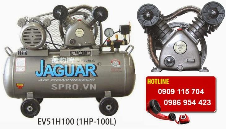 Máy bơm hơi - Máy nén khí 2hp 1 cấp Jaguar EV51H100