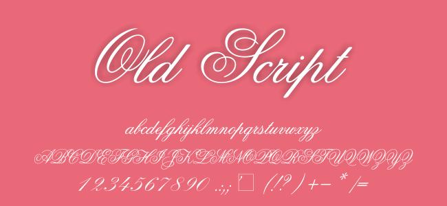 Kumpulan Font Undangan - Old Script Font