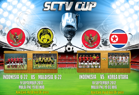 Live Streaming Malaysia B22 vs Indonesia B22 Piala SCTV 9 September 2012