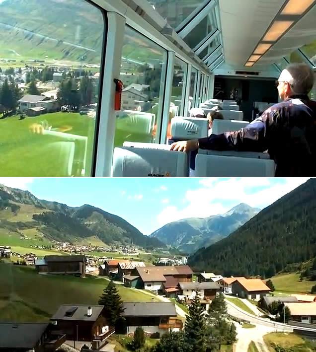 St. Moritz para Zermatt, Suíça