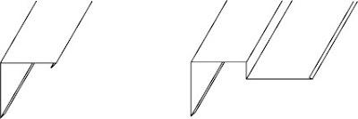 川崎市で使用したケラバ 形状説明 断面図 捨て板 あり