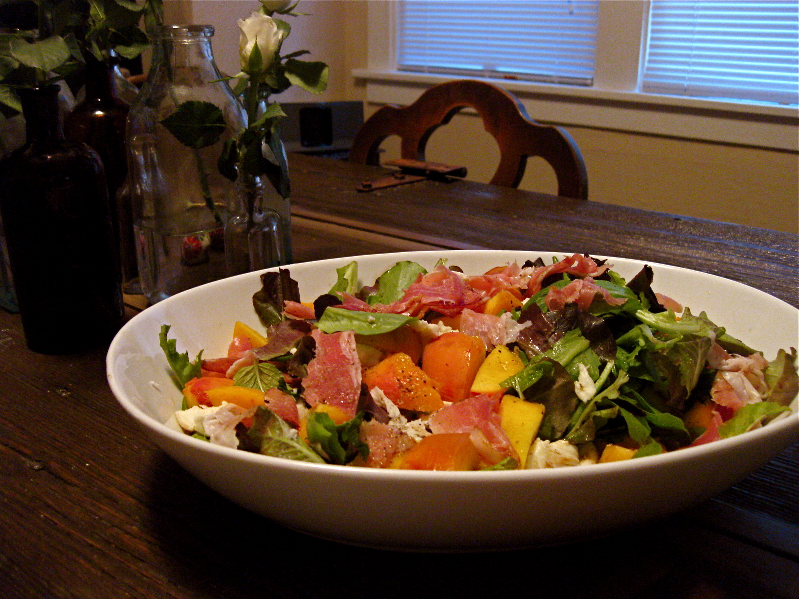 oliver s peach and prosciutto salad with mozzarella 3 ripe peaches ...