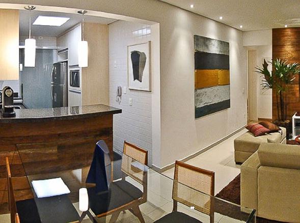 Decora y disena peque o apartamento en sao paulo de 60 m2 for Departamentos elegantes decoracion
