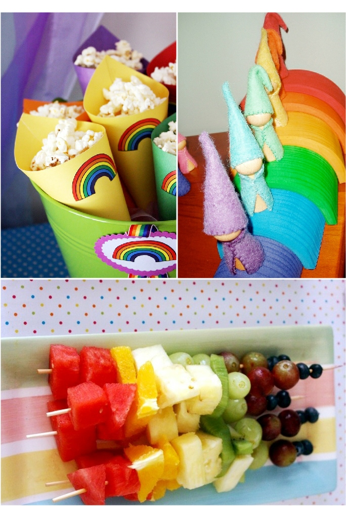 Rainbow Party and DIY Desserts Table Food