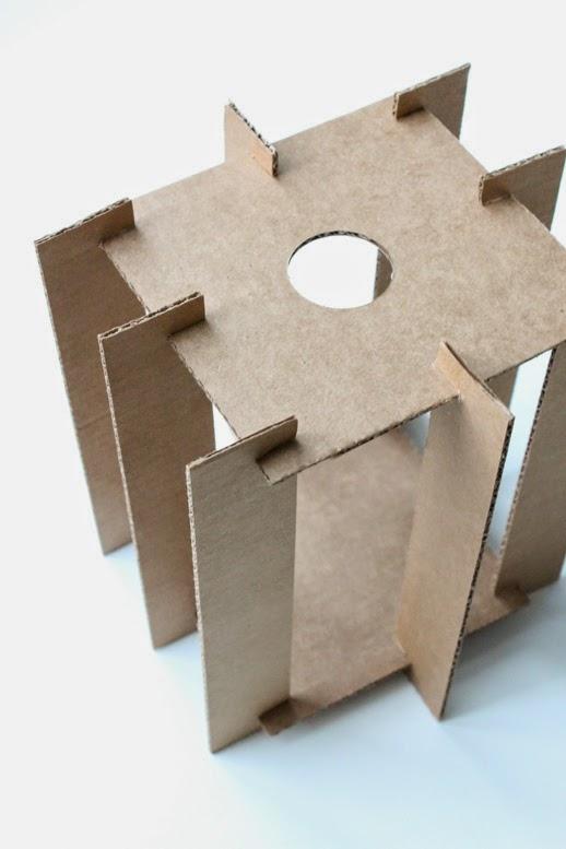 Lampe aus Pappe basteln: Designer-Lampe selbstgemacht