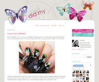 v3, butterflies with manicure wings