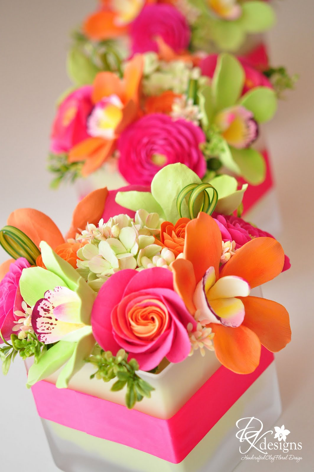 pink orange and green flowers for a destination wedding in jamaica dk designs. Black Bedroom Furniture Sets. Home Design Ideas